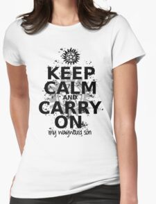 Keep Calm - SPN Style Womens Fitted T-Shirt