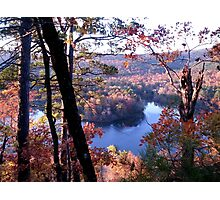Fall color change in Arkansas Photographic Print