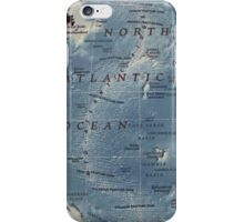 Cartography / atlantic iPhone Case/Skin