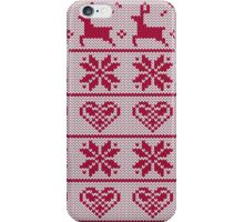 Christmas Sweater Pattern iPhone Case/Skin