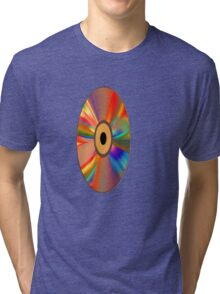 retro vinyl record 1 Tri-blend T-Shirt