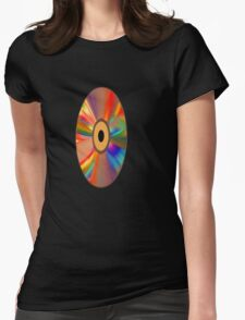 retro vinyl record 1 Womens Fitted T-Shirt