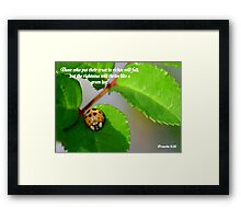 Proverbs 11:28 Framed Print