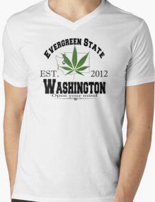 """""""Evergreen State"""" Mens V-Neck T-Shirt"""