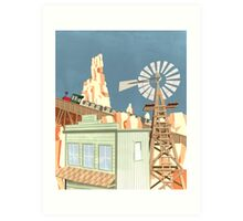 Big Thunder Mountain Railroad Art Print