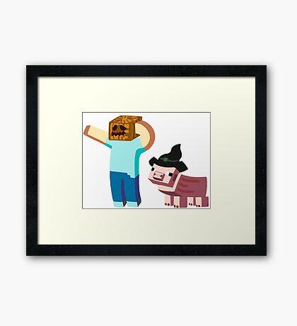 Minecraft Halloween Framed Print