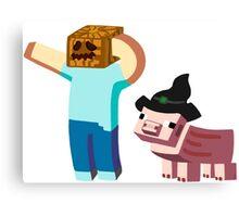 Minecraft Halloween Canvas Print