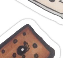 ice cream sandwich and milk Sticker