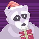 Christmas Raccoon by Sydney Eller