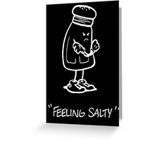 Feeling Salty (white lined) Greeting Card