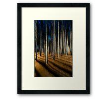 Following a path Framed Print