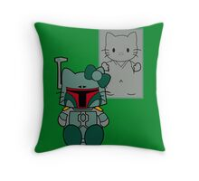 SOLO and FETT KITTY Throw Pillow