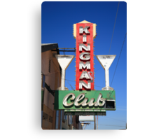 Route 66 - Kingman Club Canvas Print