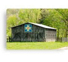 Kentucky Barn Quilt - Eight-Pointed Star Canvas Print