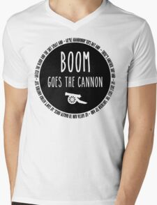 Boom Goes the Cannon Mens V-Neck T-Shirt