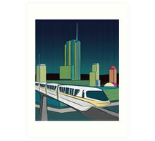Progress City - MonoRail Art Print