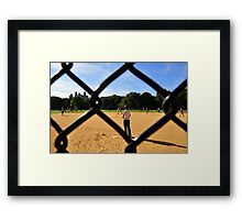 Playing Baseball Framed Print