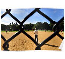 Playing Baseball Poster