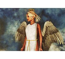 Angel and Sky Photographic Print