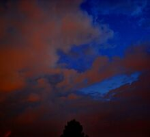 ©HCS Blue and Red Storm Clouds II by OmarHernandez