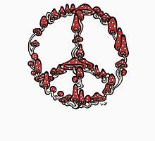 Peace Symbol Made of Mushrooms (red version) Unisex T-Shirt