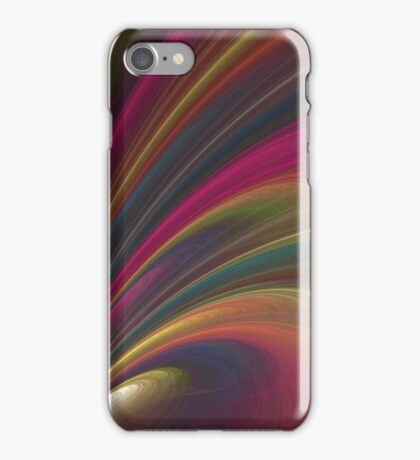 Swirling Rainbow in Space iPhone Case/Skin
