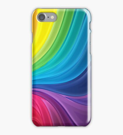 Swirling Rainbow of Paint iPhone Case/Skin