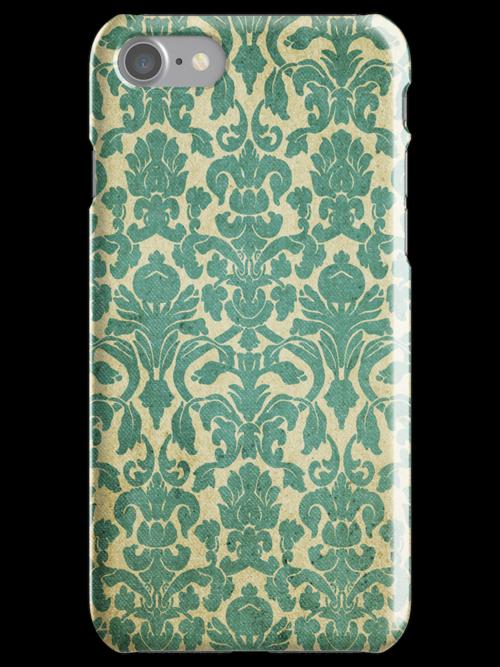 Vintage Turquoise Wallpaper by pjwuebker