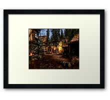 Quiet Little Village Framed Print