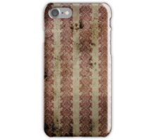 Vintage Stained Red Wallpaper iPhone Case/Skin