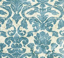 Light Blue Vintage Floral Wallpaper by pjwuebker