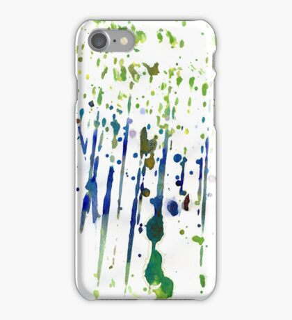 Colorful Watercolor Splatters iPhone Case/Skin