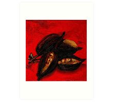 Seed Study in Red Art Print