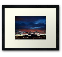 ©HCS Twilight Over Red and Blue II Framed Print