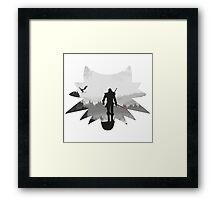 White wolf Framed Print