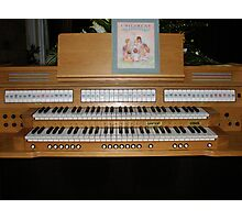 Sing With Me! Organ Console Photographic Print