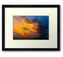 Sunset in the West Framed Print