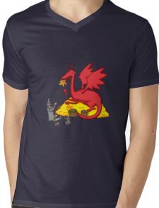 Chillin with Smaug Mens V-Neck T-Shirt
