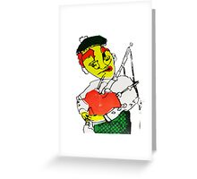Satire of a Scotsman Puppet  Screen Print  Greeting Card