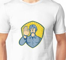 Policeman Police Officer Hand Stop Shield  Unisex T-Shirt