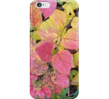 Autumn leaves of pink and chartreuse iPhone Case/Skin