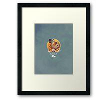 Aries Dinosaur Zodiac Framed Print