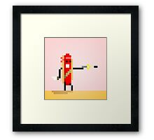 Hot Dog Commando Framed Print