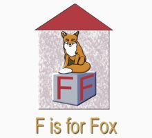 F is for Fox Play Brick T-shirt Kids Clothes