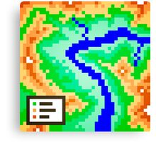 Pixel Topography Canvas Print