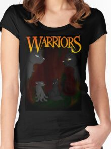 Gray Wing and Clear Sky - Warriors Women's Fitted Scoop T-Shirt