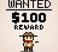 8-bit Wanted Poster by Justin Mair