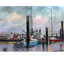 Old yatching Ellewoutsdijk in Zeeland Photographic Print