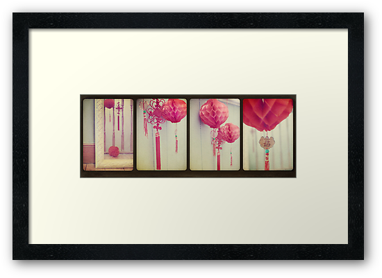 Chinese Lanterns Tetraptych by Sybille Sterk