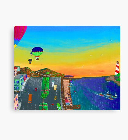 Balloons Over Vera Cruz Canvas Print